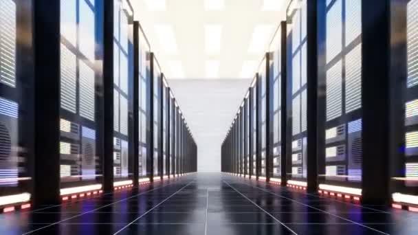 Rechenzentrum mit Servern in einem großen Raum