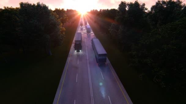 Nagy teherautók rakomány szállítás