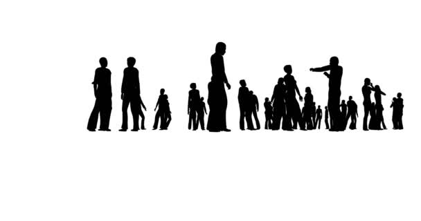 Silhouette profile. Business team. People crowd. Finance service. Light background.