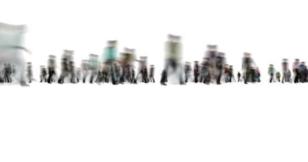 Menschenmenge auf White Motion Blur Stil 4k