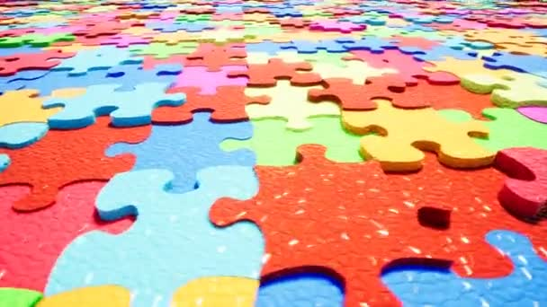 Beautiful Color Puzzle Pieces Abstract Concept.