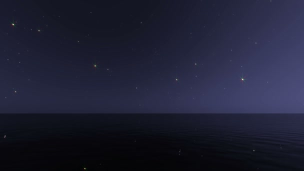 Night seascape realistic animation