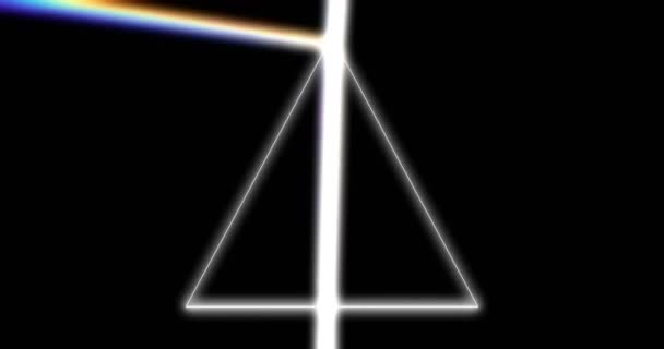 Prism refracting light rays 3d footage