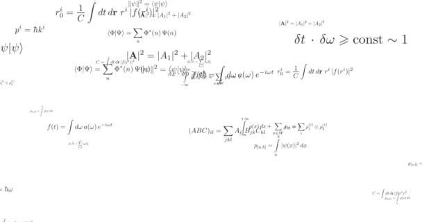 Mathematical formula looped footage
