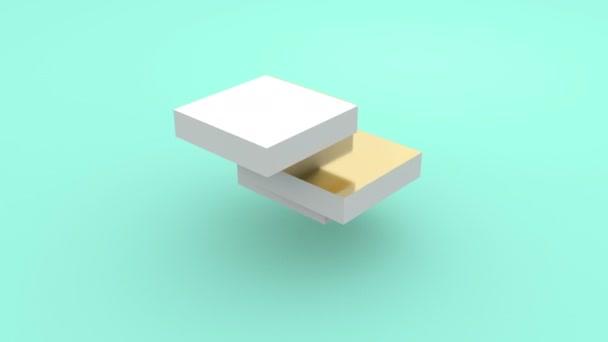 3d arany kocka puzzle. Üzleti koncepció. Építkezési koncepció. Üzleti megoldás.