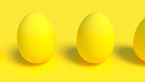 Gelbe Eier minimalistisches Cover-Material Intro in der Lage, nahtlose Schleife