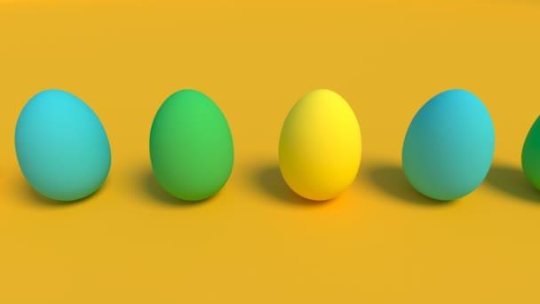 Eier färben auf gelb Food-Konzept Ostern in der Lage, nahtlose Schleife