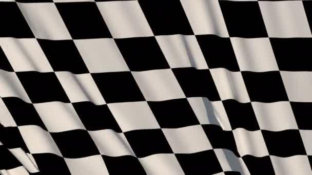 Karo Race Flag Check Flag welliges Seidengewebe flattert Rennfahnen