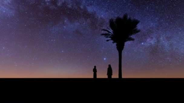 Pálmafa éjszaka Arab muszlim család