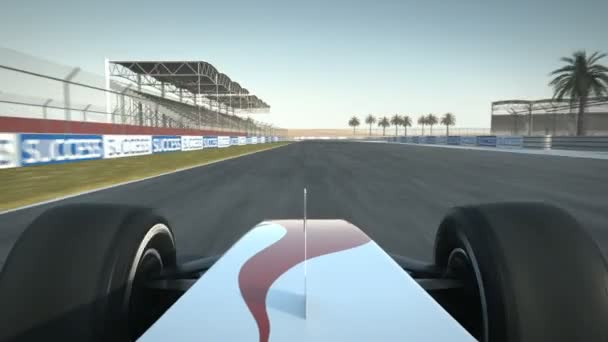 Formel-1-Rennwagen auf Wüstenkurs