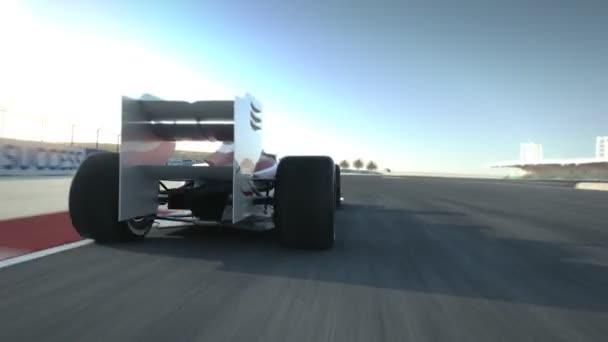 řízení za F1 závodní auto na pouštní okruh