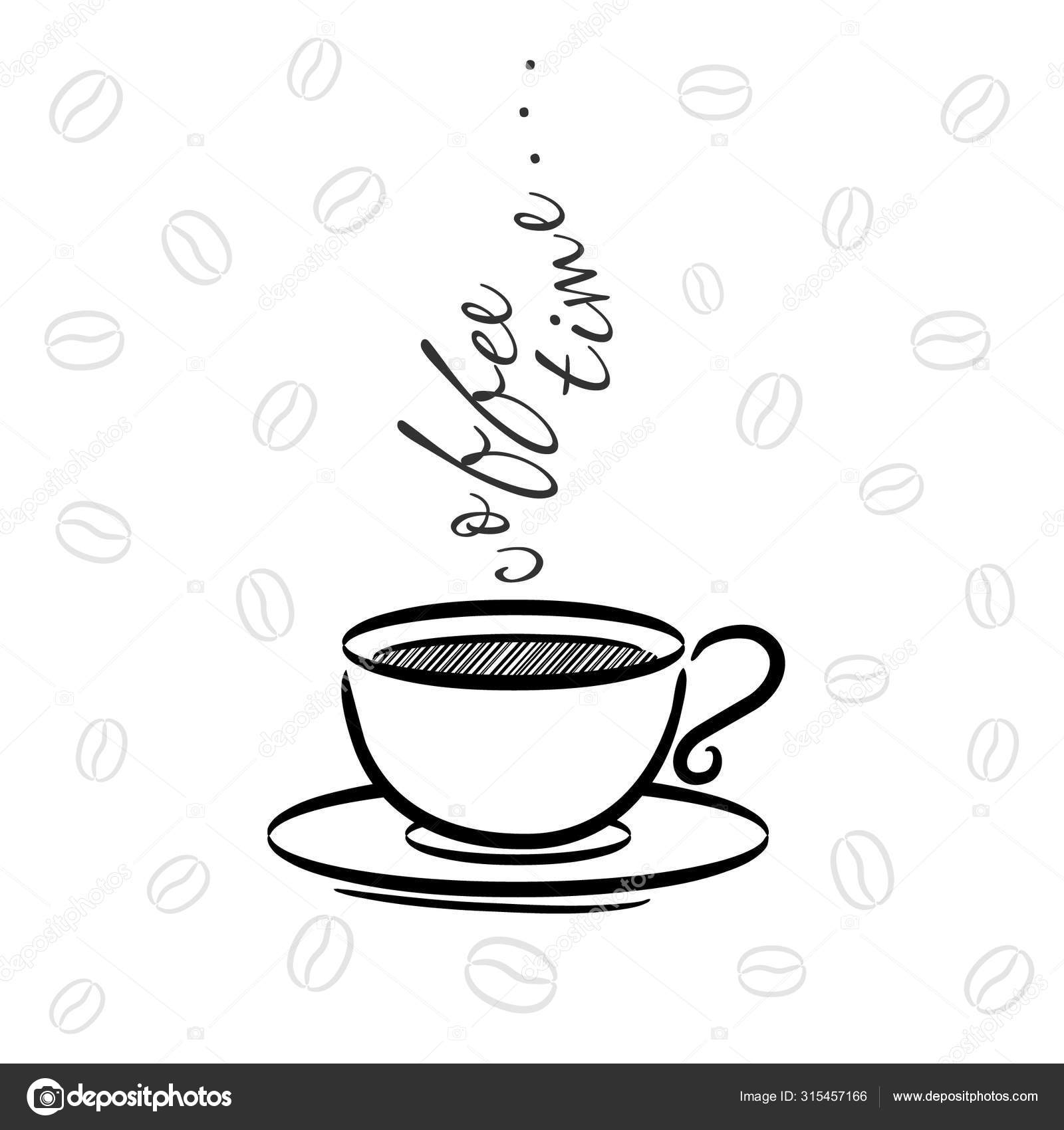 Motivation Coffee Postcard Vector Illustration Cafe Decor Coffee Time Stock Vector C Julipaper 315457166