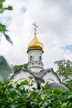 temple-chapel in VDNKh park in Moscow summer 2020