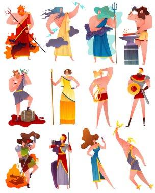 Greece Mythology Cartoon Set