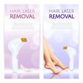 Vlasy laserové odstranění realistické bannery