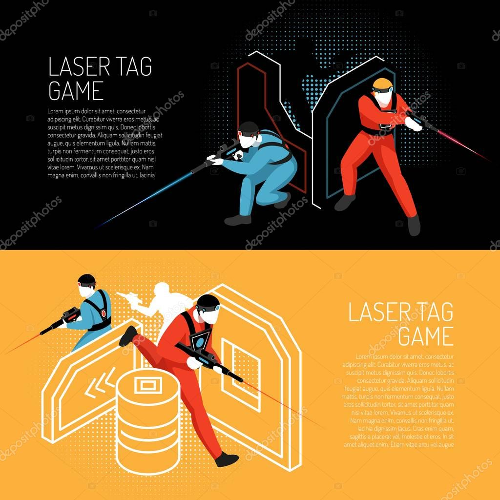 Laser Tag Isometric Banners