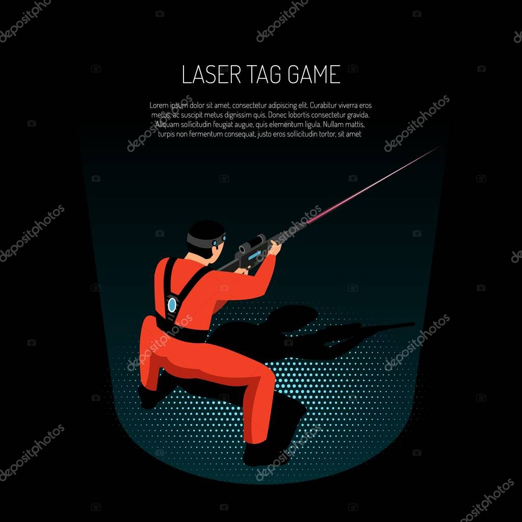 Laser Tag Isometric Poster
