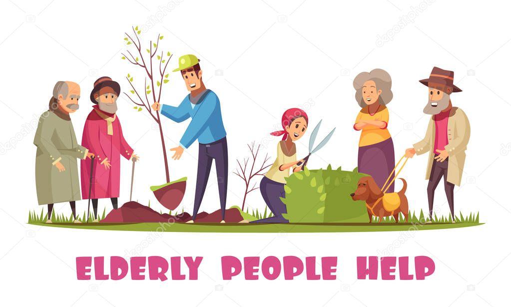 Elderly People Help Banner
