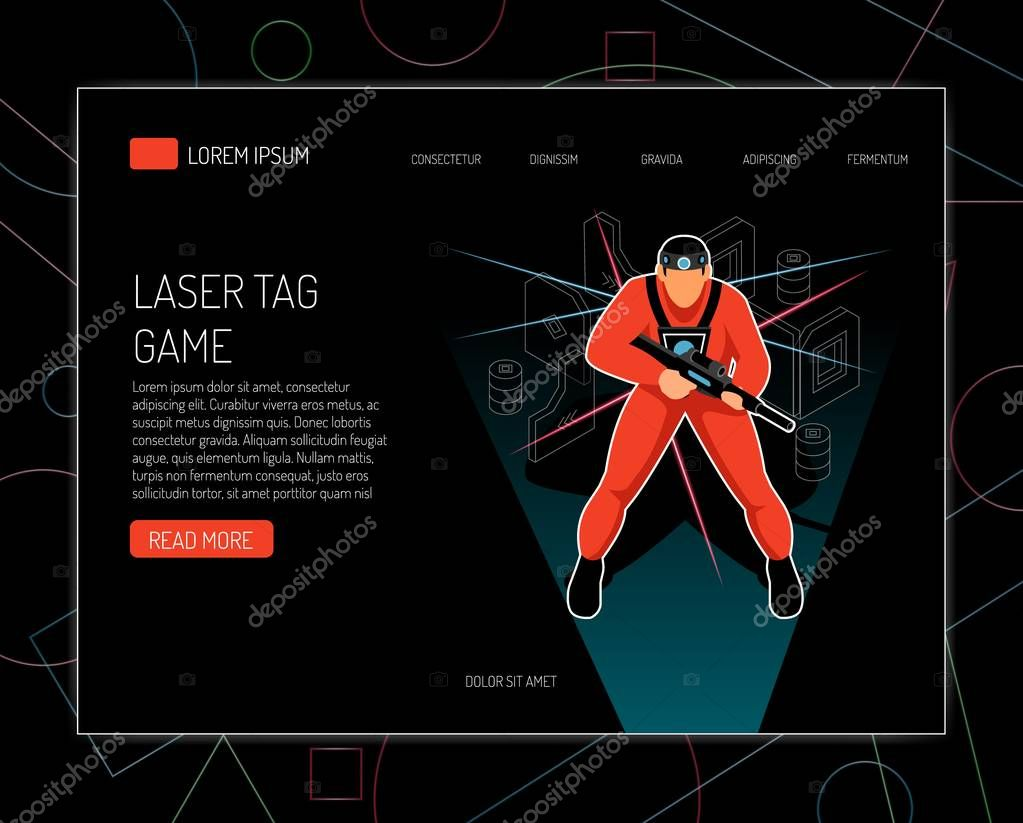 Laser Tag Isometric Design