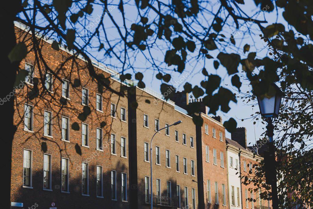 DUBLIN, IRELAND - October 6th, 2018: rooftops in Dublin city centre