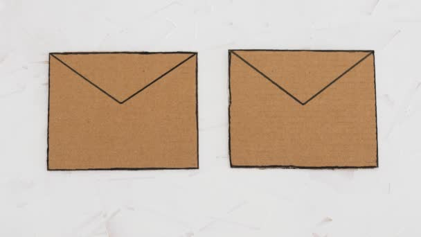 trust-worthy vs fake emails or online scams concept, email envelop icons with hand placing real vs fake labels on them