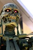 osaka, japan - 13. apr 2019: Foto des T-800 Endskeletts vom Terminator 3d, Terminator 6 dunkles Schicksal 2019 kommt bald.