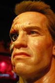 LOS ANGELES, CA - 28 Oct , 2013: Arnold Schwarzenegger waxwork figure - Madame Tussauds Hollywood.