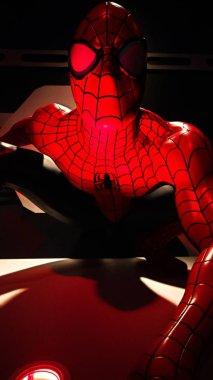 LAS VEGAS, USA - Oct 10, 2017: Close up of Statue of Spider man, Madame Tussauds museum in Las Vegas.