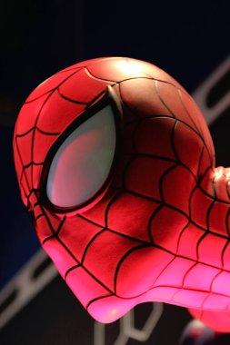 LAS VEGAS, USA - Oct 10, 2017: Close up Statue of Spider man at Madame Tussauds museum in Las Vegas.Avengers EndGame.