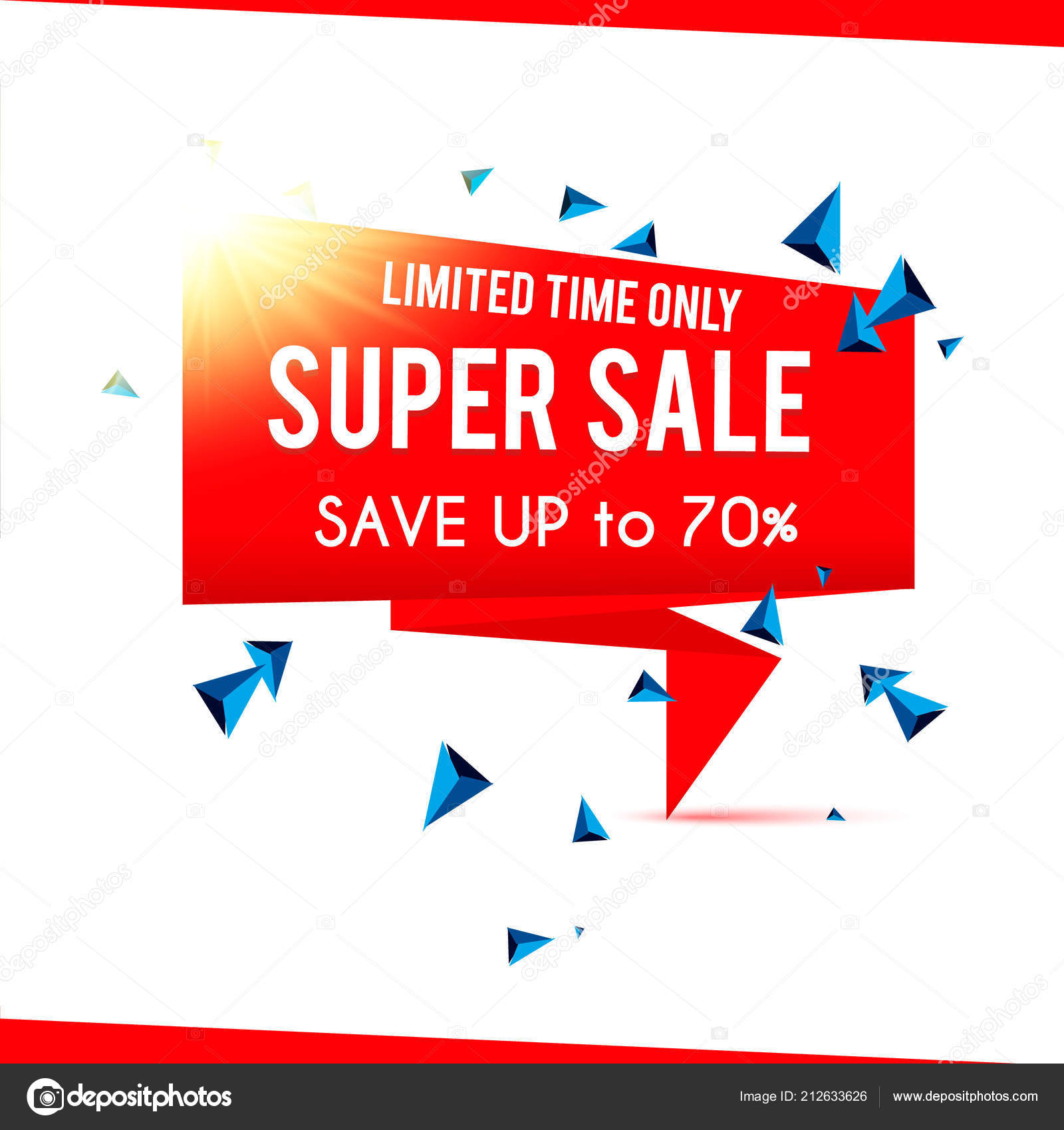 021d71ff7e8 Super Výprodej Banner Super Prodej — Stock Vektor © Antonvector ...