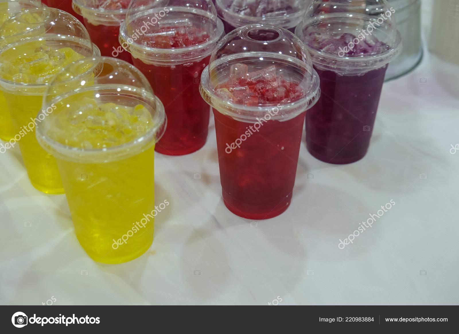 Refresh Thai Herb Cold Drink Plastic Glass Ready Seminar