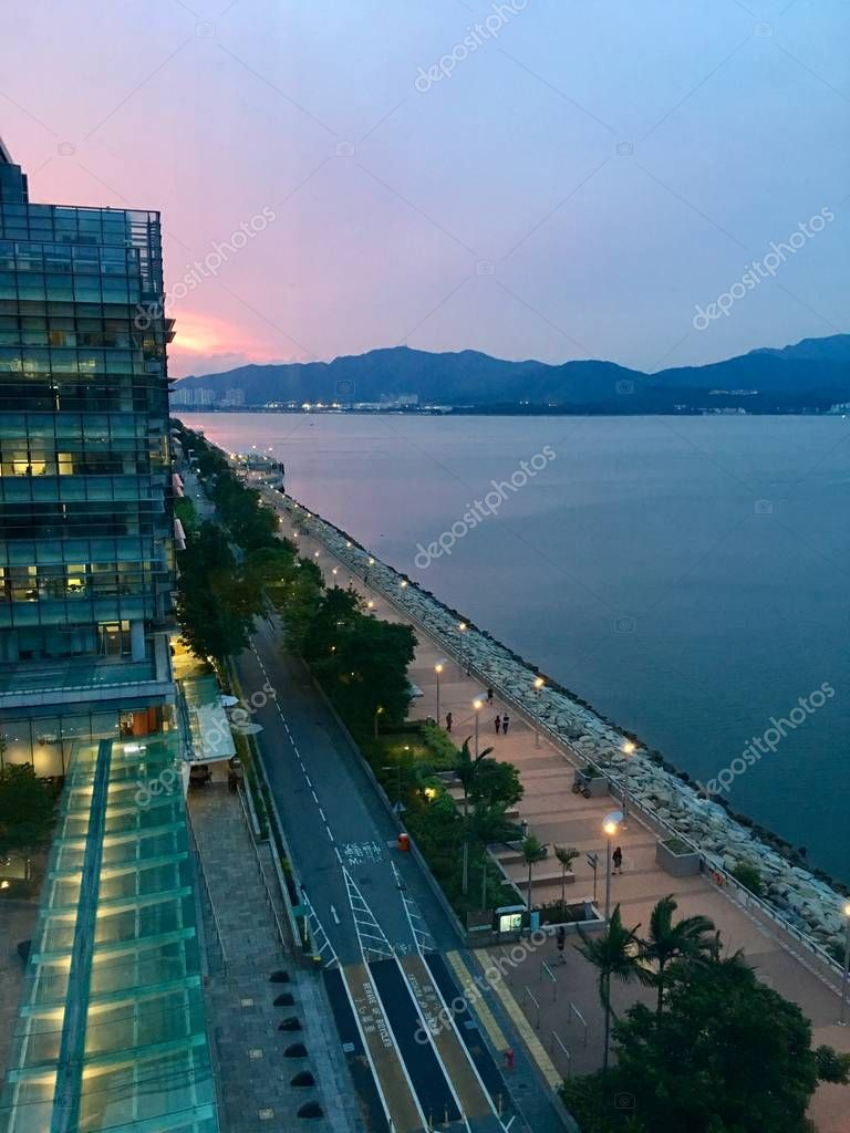 Sunset in Hong Kong Science Park