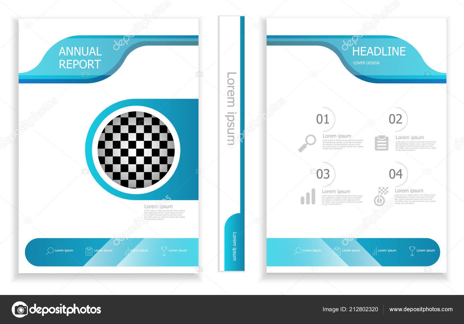 Illustration Modern Business Brochure Design Template Cover