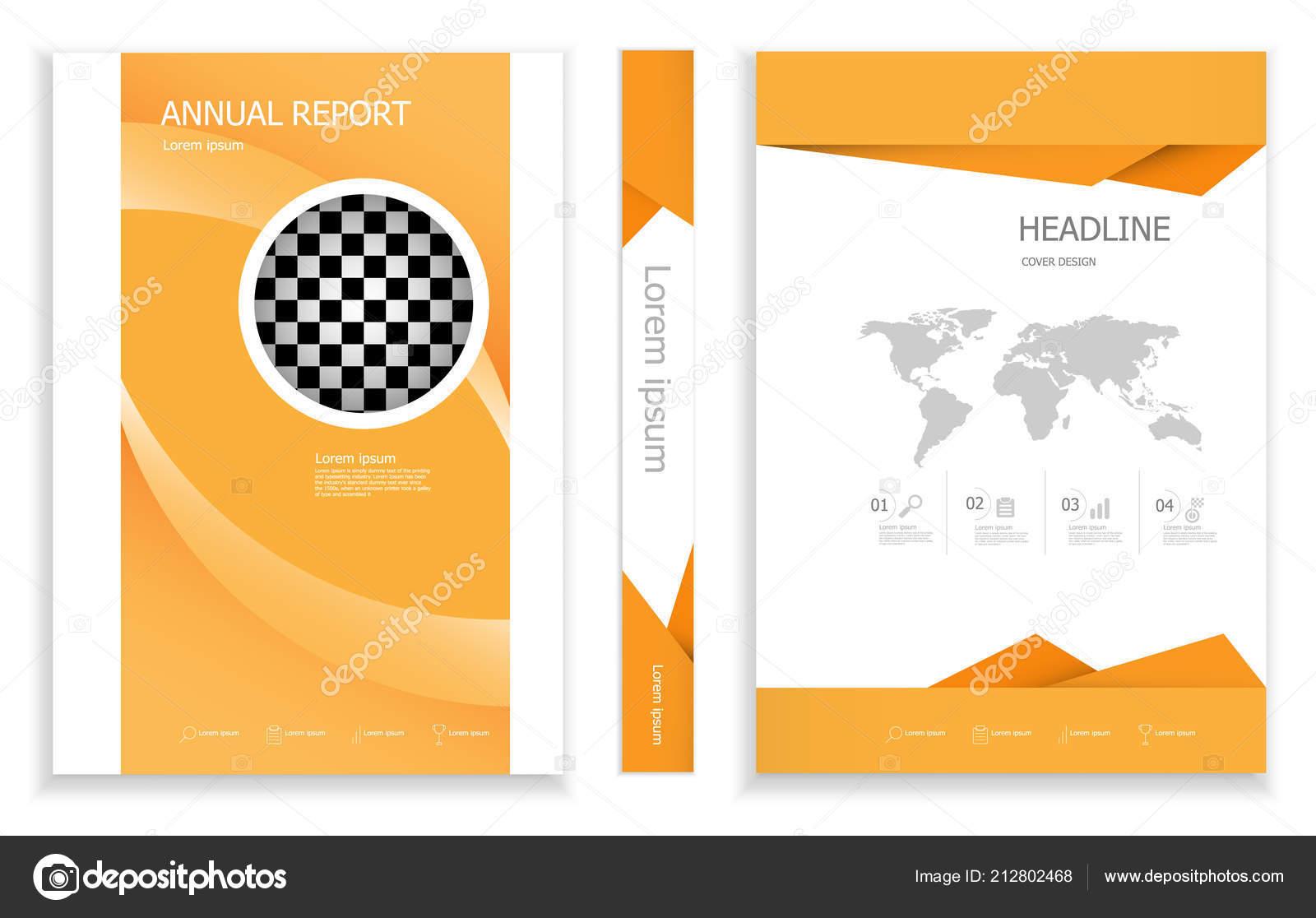 Illustration Modern Orange Business Brochure Design Template