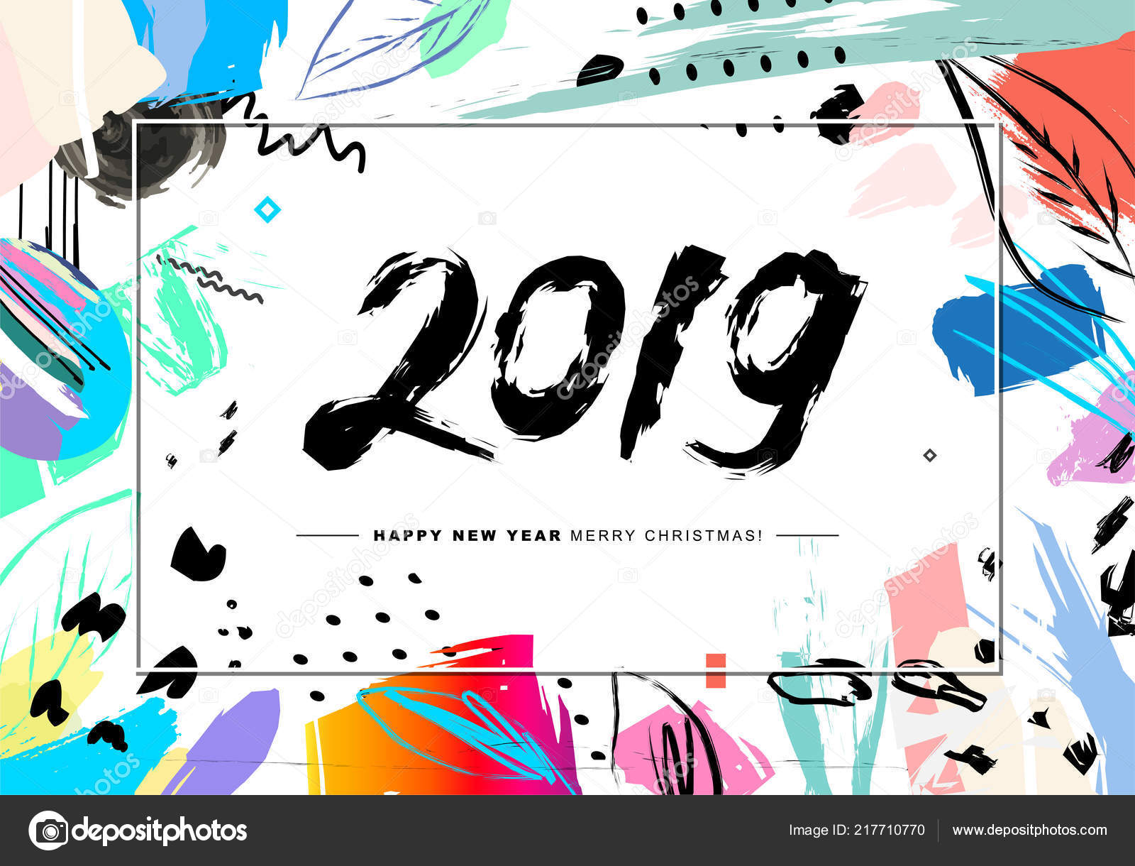 2019 merry christmas and happy new year card or background vector by galastudio