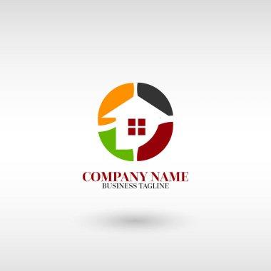Real Estate, Building and Construction Logo Vector Design Concept