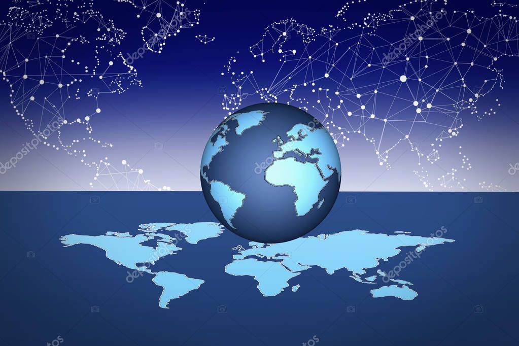 Blue Globe Background for  graphics