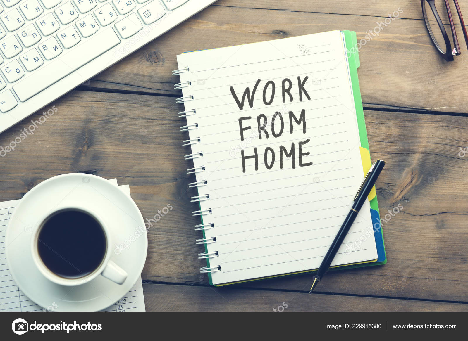 Work Home Text Written Page Table — Stock Photo © Tiko0305