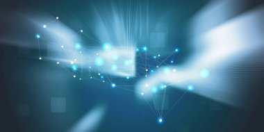 blue abstract  future network technology background illustration