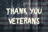 Danke Veteranen Karte amerikanische Flagge Grunge Hintergrund