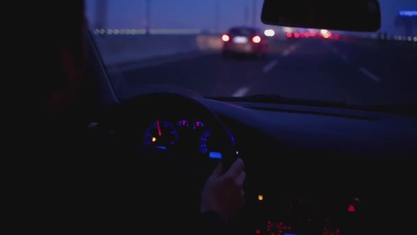 Driving a car in the night