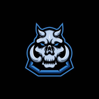 Skull head vector design illustration icon
