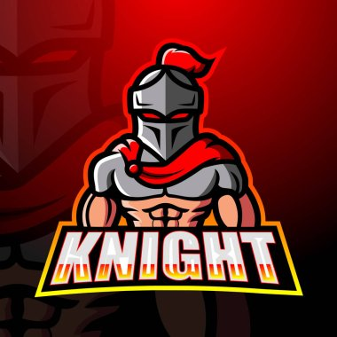 Vector illustration of Knight mascot esport logo design icon