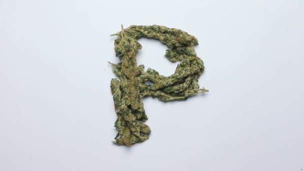 P betű az angol ábécé kannabiszból
