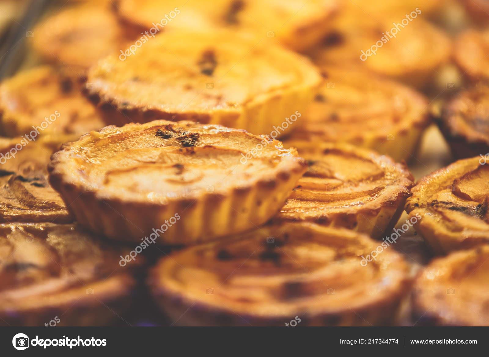 Traditionelle Portugiesische Herb Pastose Kuchen Dessert Pasteis