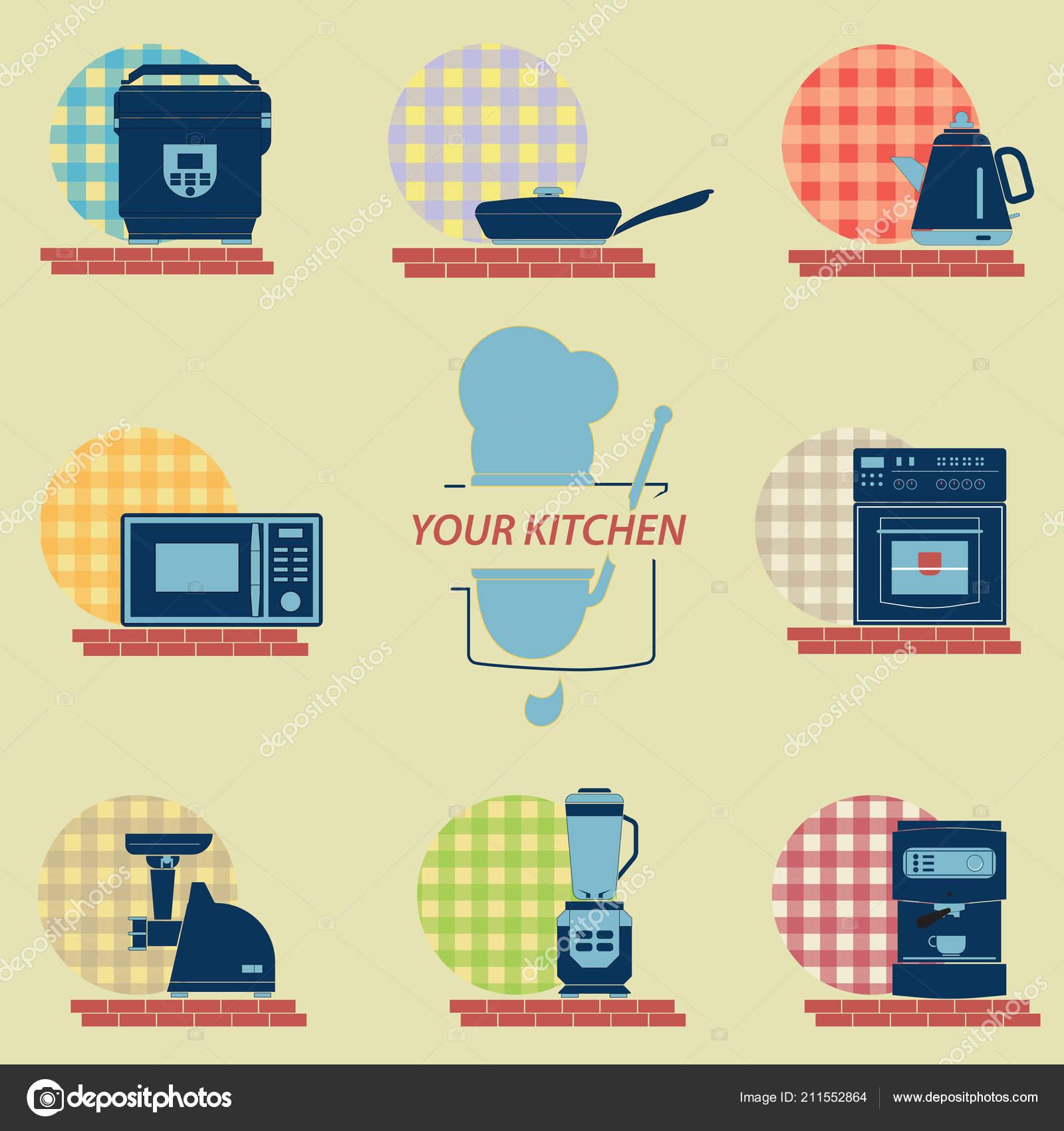 Immagini: icone elettrodomestici   Set Icone Della Cucina ...