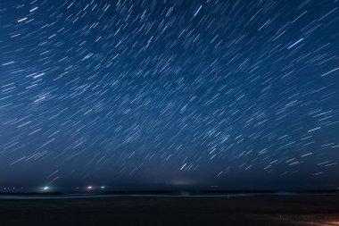 Of 30 minutes,star of the trajectory (Sendai Arahama Coast)