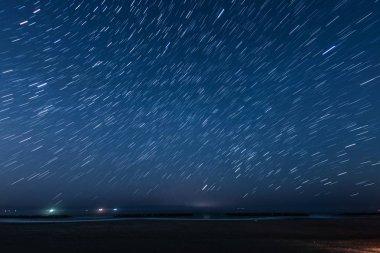 Of 20 minutes star of the trajectory (Sendai Arahama Coast)