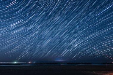 Of 90 minutes star of the trajectory (Sendai Arahama Coast)