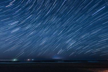 70 minutes of the star of the trajectory (Sendai Arahama Coast)
